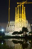 Sagrada Familia in night. Barcelona Royalty Free Stock Photos