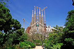 Sagrada Familia, park. Royalty Free Stock Image