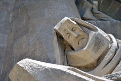 Sagrada Familia - passion facade Royalty Free Stock Photos