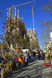 Sagrada Familia Placa αγορά, Βαρκελώνη στοκ εικόνα