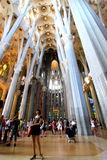 Sagrada Familia popularity Stock Photography
