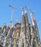 Sagrada Familia por Gaudi Imágenes de archivo libres de regalías