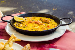 Spanish paella Stock Photography