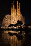 Sagrada Familia reflected Stock Image
