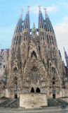 Sagrada Familia,  Roman Catholic church in Barcelona Stock Photos