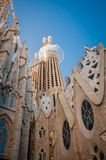 Sagrada Familia, Spain, Barcelona, September 2017, Cathedral designed by Antoni Gaudi stock images