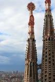 Sagrada Familia spitsen Royalty-vrije Stock Afbeeldingen