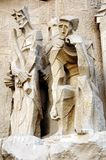 Sagrada familia statues Stock Photos