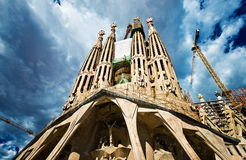 Sagrada Familia Temple Stock Photos