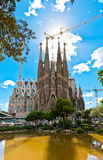 Sagrada Familia Temple in Barcelona Royalty Free Stock Images