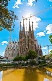 Sagrada Familia Temple in Barcelona Royalty Free Stock Images
