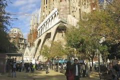 Sagrada Familia Temple in Barcelona Royalty Free Stock Photos