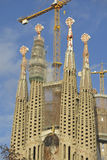 Sagrada Familia Temple in Barcelona Royalty Free Stock Photography