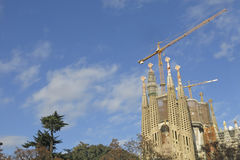 Sagrada Familia Temple in Barcelona Stock Images