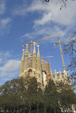 Sagrada Familia Temple in Barcelona Royalty Free Stock Photo