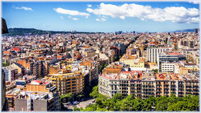 Sagrada Familia Temple in Barcelona, Spain Royalty Free Stock Photo