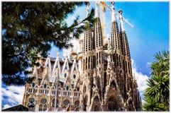 Sagrada Familia Temple in Barcelona, Spain Stock Photo