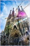 Sagrada Familia Temple in Barcelona, Spain Stock Photography