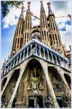 Sagrada Familia Temple in Barcelona, Spain Royalty Free Stock Images