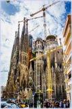 Sagrada Familia Temple in Barcelona, Spain Stock Photos