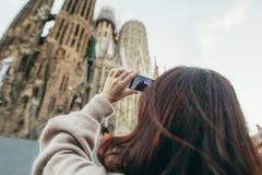 Travel Sagrada Familia tourist Barcelona Spain royalty free stock photography