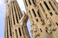 Sagrada Familia Towers Stock Photos
