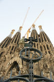 Sagrada Familia towers in Barcelona Stock Photography