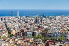 Sagrada Familia from Turo del Rovira in Barcelona, Spain Royalty Free Stock Image