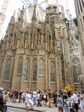Sagrada Familia una iglesia católica romana grande, Barcelona, España Imagen de archivo