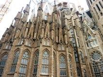 Sagrada Familia una iglesia católica romana grande, Barcelona, España Foto de archivo libre de regalías
