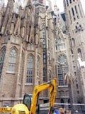 Sagrada Familia una iglesia católica romana grande, Barcelona, España Imágenes de archivo libres de regalías