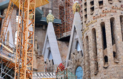 Sagrada Familia in Barcelona spain stock photos