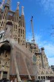 Sagrada Familia under konstruktion i Barcelona, Spanien Arkivfoto