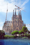 Sagrada Familia unfinished cathedral of Barcelona Stock Photo