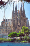 Sagrada Familia is an unfinished cathedral of Barcelona Royalty Free Stock Images