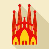 Sagrada Familia Vector illustratie Stock Fotografie