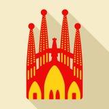 Sagrada Familia. Vector illustration Stock Photography