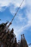 Sagrada familia vid Gaudi i Spanien Fotografering för Bildbyråer