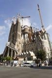The Sagrada Familia. View of the Passion Façade of the Basilica of the Sagrada Familia in Barcelona, Spain stock photos
