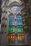 Sagrada Familia windows, Barcelona, Spain Stock Photo