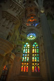 Sagrada Familia windows, Barcelona, Spain Stock Image
