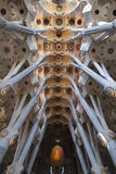 Sagrada la Familia Ceiling Royalty Free Stock Photos
