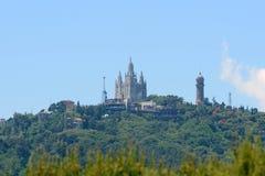 Sagrat惊叹教会,巴塞罗那,西班牙 免版税图库摄影
