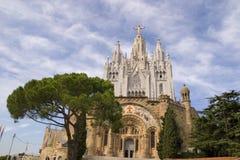 Sagrat Cor at Tibidabo. The Sagrat Cor church - Barcelona Stock Images