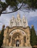 Sagrat Cor at Tibidabo. The Sagrat Cor church - Barcelona stock photo