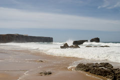 sagres пляжа Стоковые Изображения