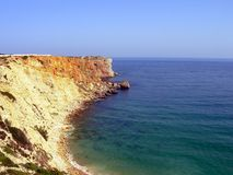 Sagres. Tip of Sagres, situated village in Algarvio Windward, Portugal. Celebrity for infant D. Enrique to have there installed its impulsionadora Nautical royalty free stock image