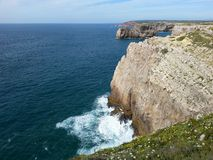 Sagres. Cliffs at Saint Vincente cape Royalty Free Stock Image