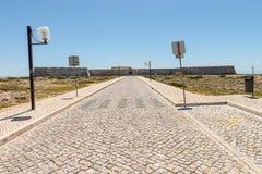 Sagres fortress entrance in Sagres city, Algarve, Portugal Stock Images