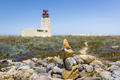 Sagres fortress Lighthouse in Portugal Royalty Free Stock Images